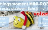 Vormingsmoment mini-robot: VOLZET!